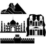 serien synr världen royaltyfri illustrationer