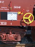 Serienlastwagendetail Stockbild