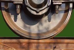 Serienrad auf Gleis Stockbilder