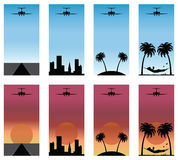 Series of airplane Stock Photos