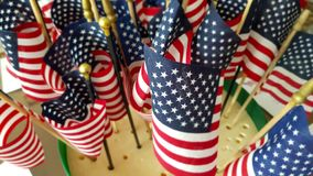 A series of American flags. USA flags royalty free stock photos