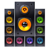 Series of audio speaker Royalty Free Stock Photo