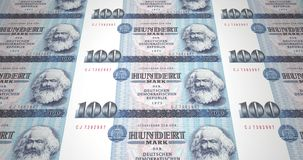 Banknotes of one hundred german marks of the old German republic, cash money vector illustration