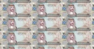 Banknotes of twenty bahraini dinars of Bahrain rolling, cash money. Series of banknotes of twenty bahraini dinars of the bank of Bahrain rolling on screen, coins vector illustration