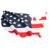 Series of border alike shaped ruffled flags - United States of America Royalty Free Stock Images