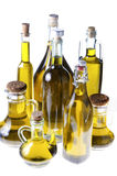 Series of bottles of olive oil Stock Images