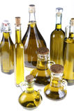 Series of bottles of olive oil Royalty Free Stock Images