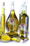 Series of bottles of olive oil Stock Photos