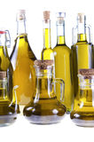 Series of bottles of olive oil Stock Image