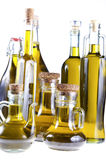 Series of bottles of olive oil Stock Photography