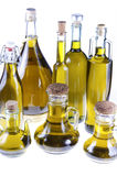Series of bottles of olive oil Royalty Free Stock Image