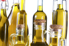 Series of bottles of olive oil Royalty Free Stock Photography