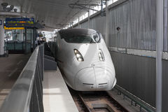 800 Series bullet (High-speed or Shinkansen) train. Royalty Free Stock Photography
