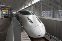 800 Series bullet (High-speed or Shinkansen) train. Stock Photo