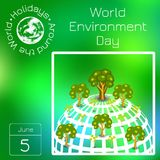 Series calendar. Holidays Around the World. Event of each day of the year. World Environment Day Royalty Free Stock Images