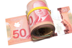 Series of Canadian dollars Royalty Free Stock Photo