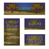 Series card with autumn tree and sample text Royalty Free Stock Photo