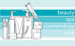 Series care cosmetics Stock Images