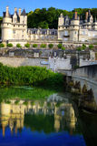 Series of Castles. Chateau d'Usse, France. On the photo: Castle. Chateau d'Usse, France royalty free stock photos