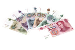 Series chinese bills Royalty Free Stock Photography