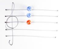 The series of chord diagram, Bdim. On handwitten sheet music Stock Photos