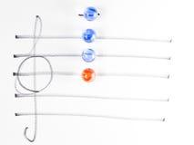 The series of chord diagram, Bm7flat5. On handwitten sheet music Stock Photo