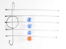 The series of chord diagram, Dm7 Stock Image