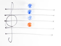 The series of chord diagram, Am7 Stock Photo