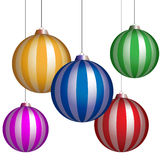 Series of christmas balls Stock Image