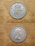 From series: coins of world. England. ONE SHILLING. Royalty Free Stock Images
