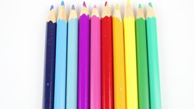 Colored crayons, ten different colors