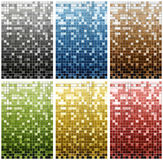 Series from 6 colored mosaic Royalty Free Stock Photos