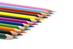 Series of colored pencils Royalty Free Stock Photos