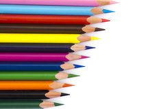 Series of colored pencils Royalty Free Stock Images
