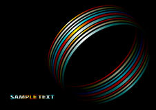 A series of colored rings. Abstract layout with colorful ring Stock Photography