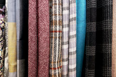 Series of  colored woolen fabrics Royalty Free Stock Image