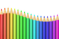 Series of Colorful Crayons Royalty Free Stock Photos