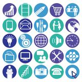 Business and communications icons. A series of colorful icons with communications and business designs Royalty Free Stock Images