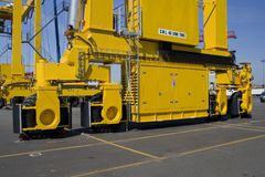 Series of container cranes  Royalty Free Stock Photo