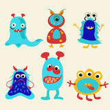 Series of  cute cartoon monsters - Illustration! Stock Image