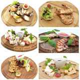 Series of dishes Stock Photography