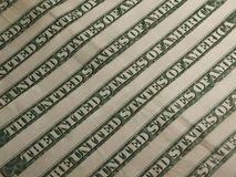 Dollars banknotes flag Stock Images