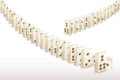 Series of Dominoes Stock Image