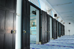 Series of door inside of Masjid Jamek Dato Bentara Luar in Batu Pahat, Johor, Malaysia Royalty Free Stock Images