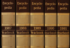 Series of encyclopedia. From 1987 to 1991 royalty free stock photography