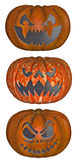 Series of Evil Halloween Pumpkins Stock Photo