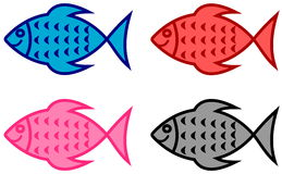 Series of fish for fish shop Stock Image