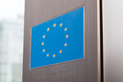Series of flags - European Union Royalty Free Stock Photo