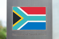Series of flags on pole - South Africa Royalty Free Stock Photography