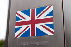 Series of flags on pole - United Kingdom of Great Britain and Northern Ireland Royalty Free Stock Photography